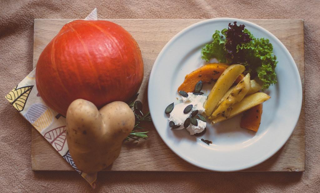 den Herbst auf dem Teller