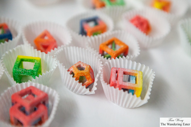 Sweet-sour candy made from a 3D printer