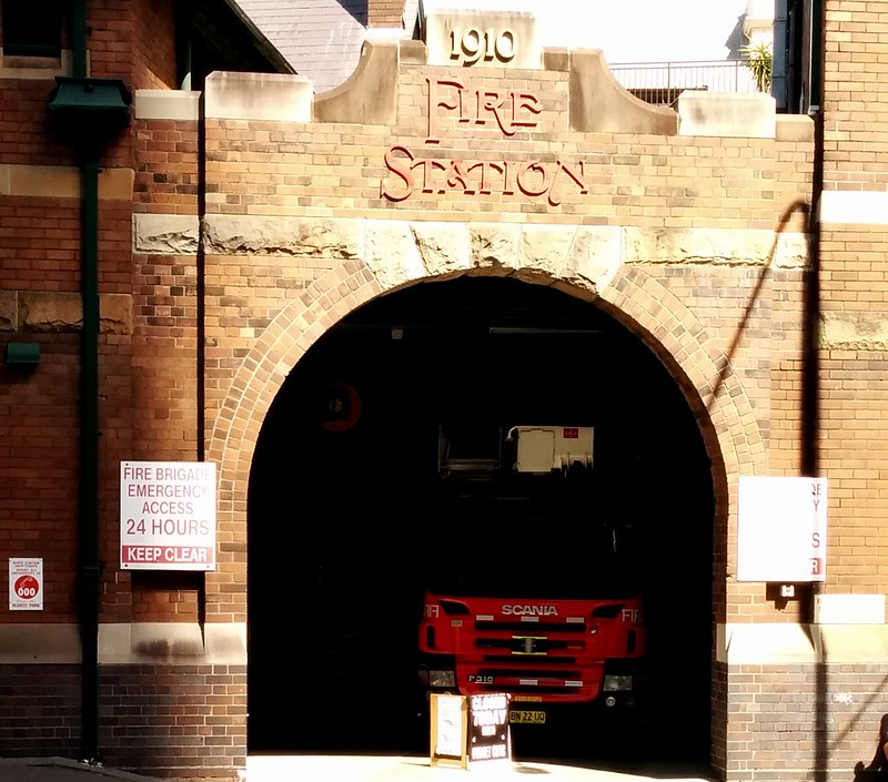 Sydney: Darlinghurst fire station: closed on Sundays