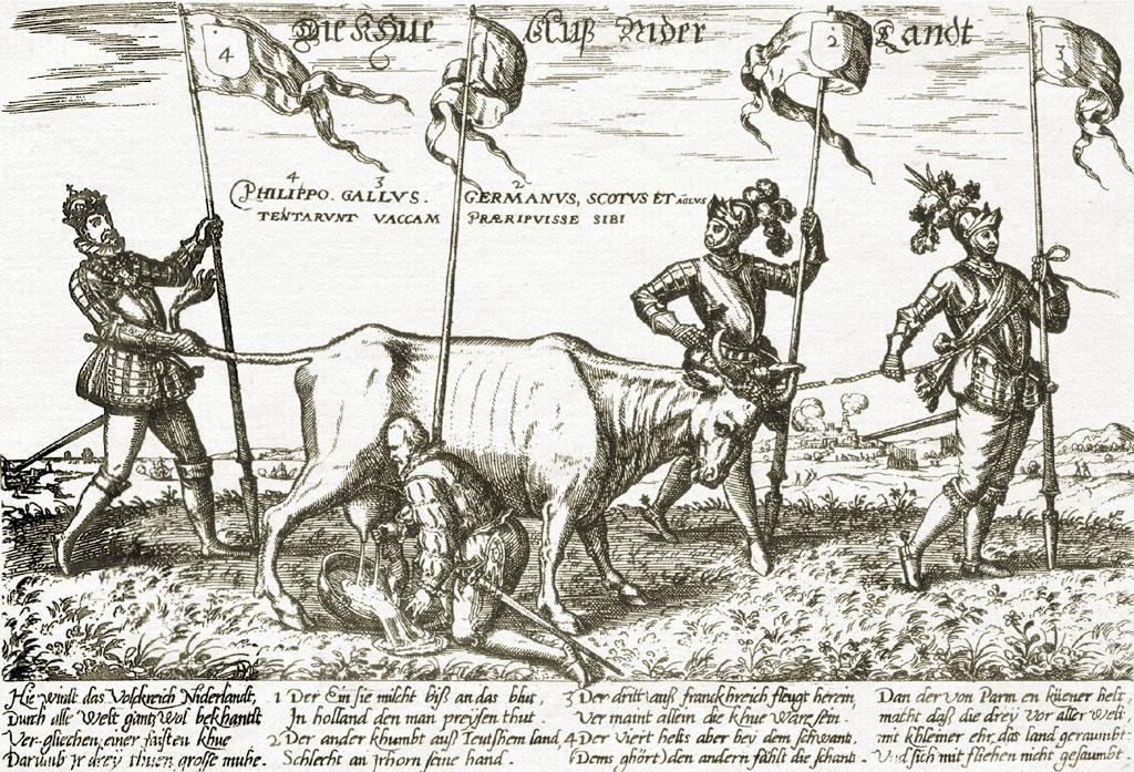 Čia kažkas apie sulysusias karves ir jų melžimą.