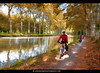 Cycling Canal Du Midi Painting Effect