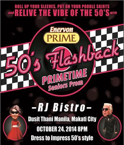 Enervon Prime '50s Flashback Prom Invite
