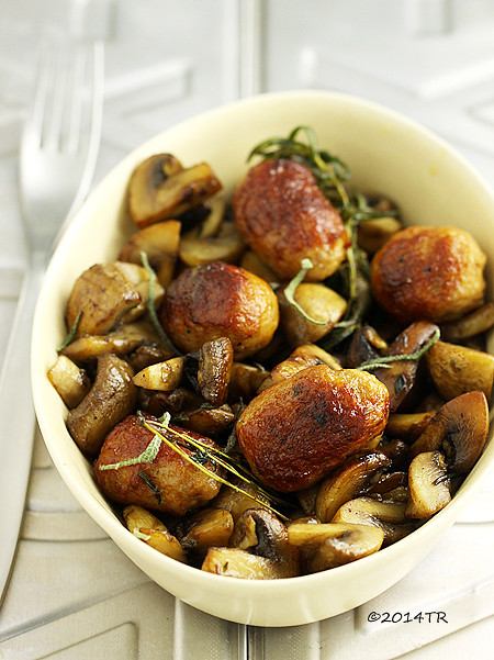 蘑菇燉香腸 Sausages with mushrooms-20141022