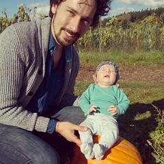 Look what we found growing in the pumpkin patch!