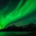 emerald sky in Grøtfjord by John A.Hemmingsen