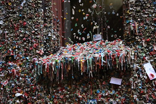 The Market Theater Gum Wall in Post Alley.  Seattle, Washington USA.
