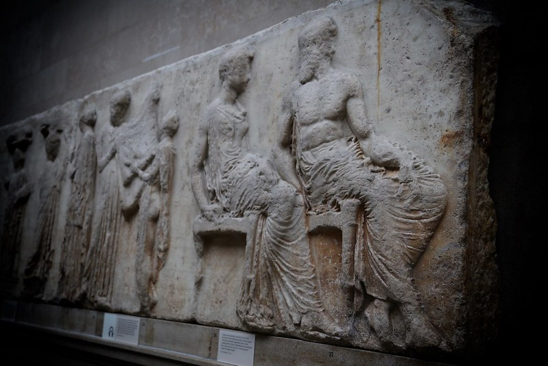Central scene of the east frieze of the Parthenon British Museum
