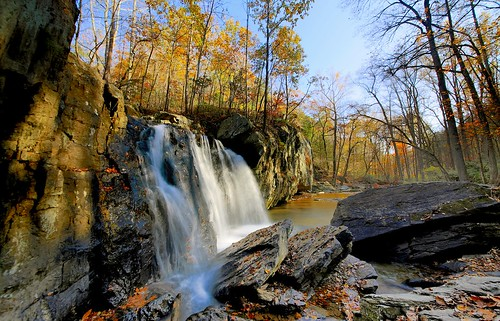 travel autumn fall water landscape waterfall fallcolor outdoor maryland falls waterfalls kilgorefalls rockstatepark