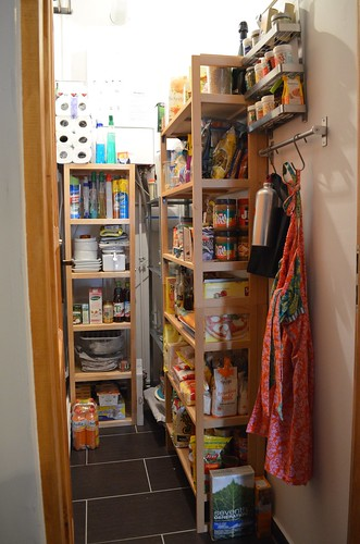 Berlin apartment_ kitchen pantry with shelves organization