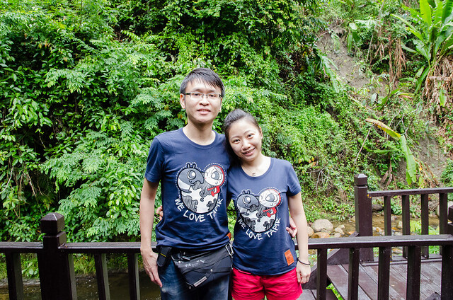 Pose with Giordano Malaysia's Tapir t-shirt at Tanah Aina