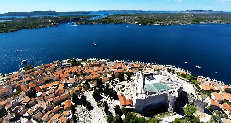 Balkan Road Trip Itinerary: View from Fort St. Mihovil, Sibenik, Croatia