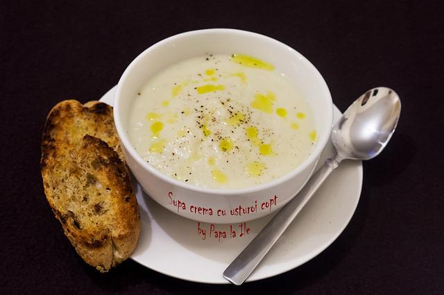 Supa crema cu usturoi copt (8)