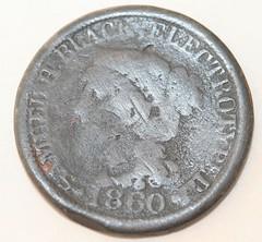 Samuel Black token 1860-obv