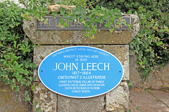 Photo of John Leech blue plaque