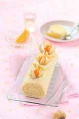 Tropical Swiss Roll Cake