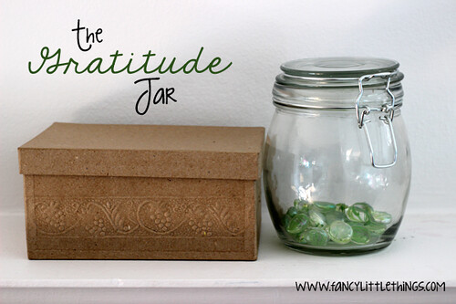 The Gratitude Jar (Photo from Fancy Little Things)