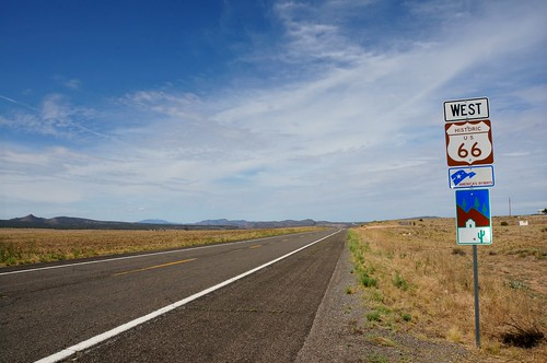 Route 66 west of Truxton, Arizona