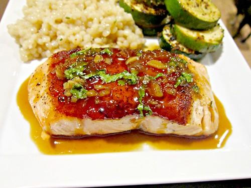 Salmon with Orange-Coconut Sauce