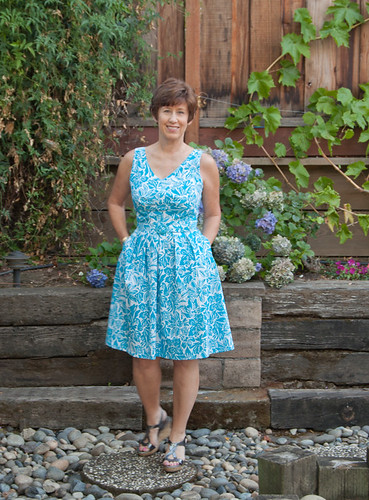 turquoise dress front