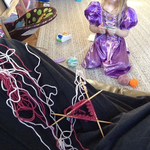 My princess and I, playing with yarn