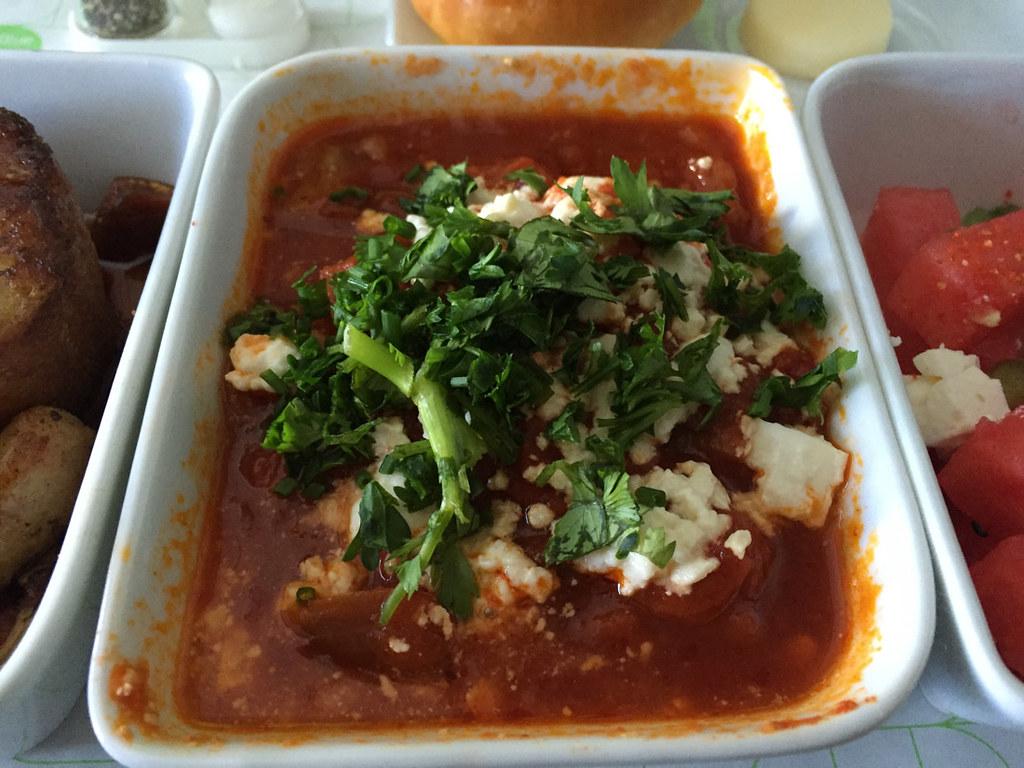 spicy eggplant shakshuka