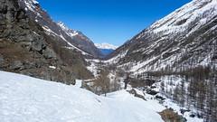 Dolina Val di Rheme, w oddali masyw Grand Combin
