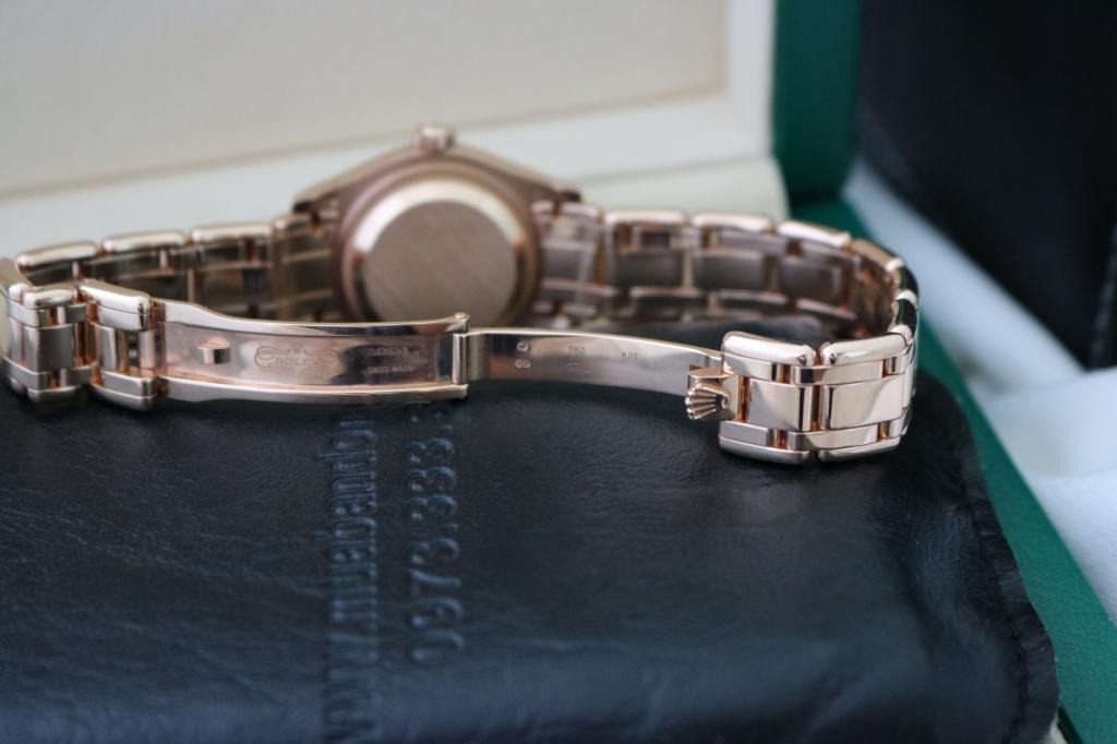 Đồng hồ rolex datejust 6 số Nữ 80315 – Dòng Pearmaster – Vàng hồng 18k – Size 29mm