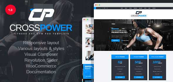 CrossPower WordPress Theme free download