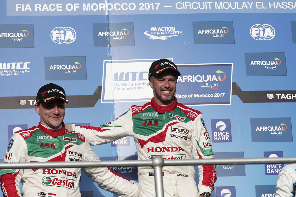 MICHELISZ Norbert (hun) Honda Civic team Castrol Honda WTC ambiance portrait MONTEIRO Tiago (prt) Honda Civic team Castrol Honda WTC ambiance portrait during the 2017 FIA WTCC World Touring Car Race of Morocco at Marrakech, from April 7 to 9 - Photo Jean Michel Le Meur / DPPI.
