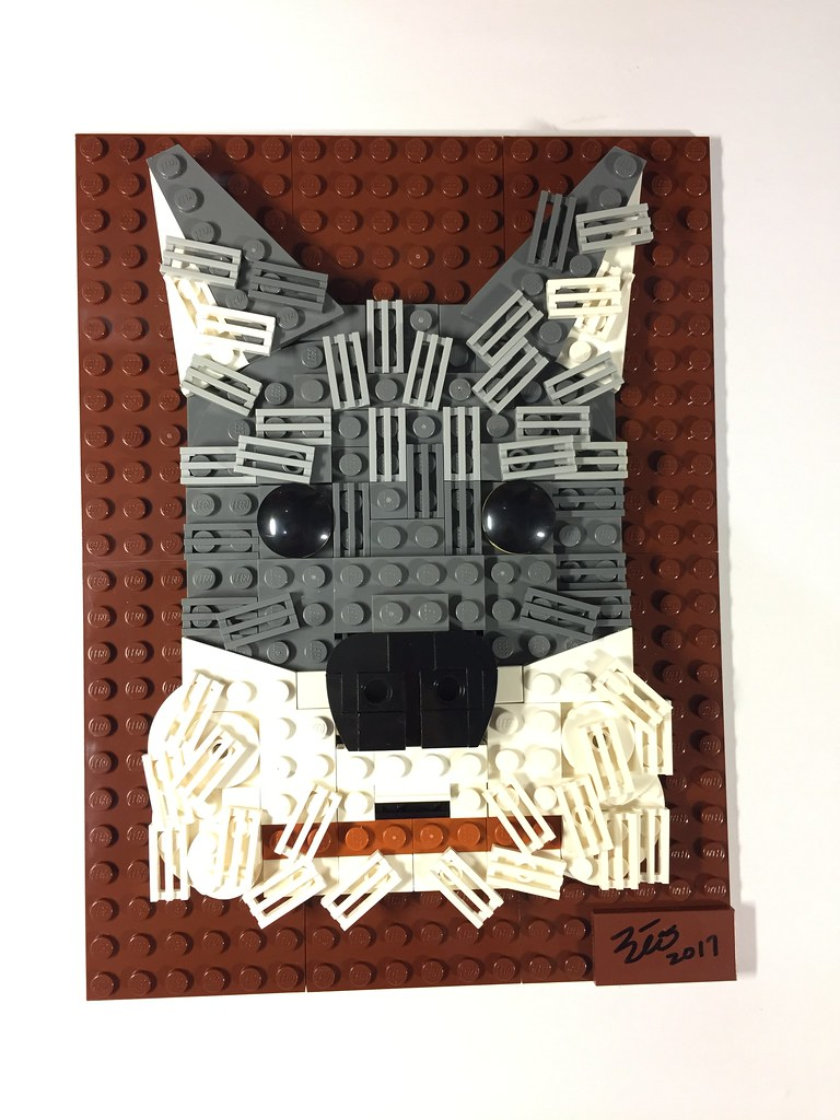Doggy portrait (custom built Lego model)