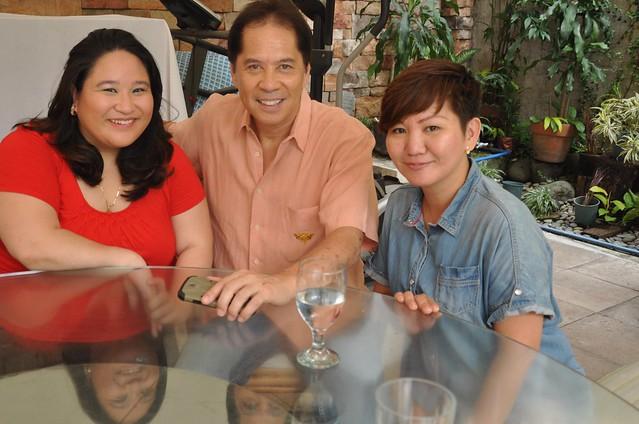 with Karla Reyes and Sandy Daza