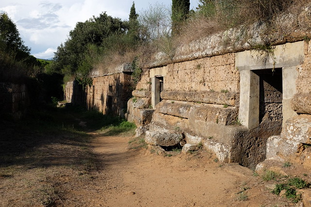 Street in Banditaccia Necropolis