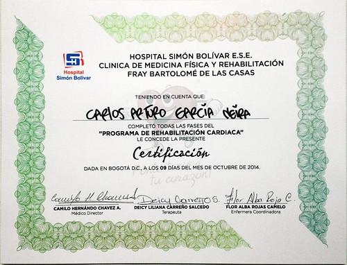 Diploma Programa de Rehabilitacion Cardiaca 20141009