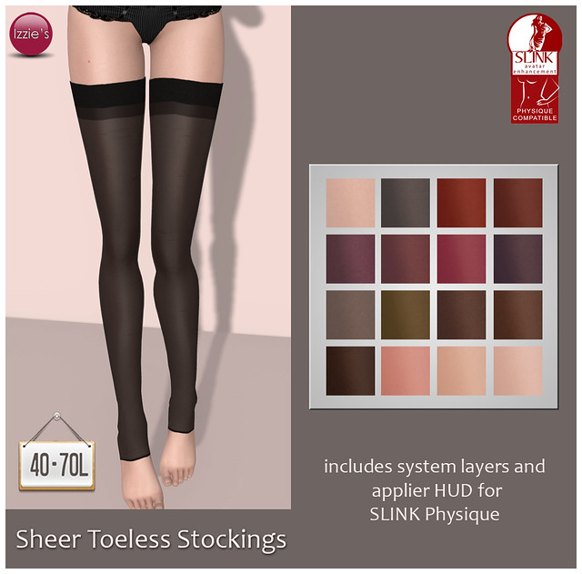 TDRF (Sheer Toeless Stockings)