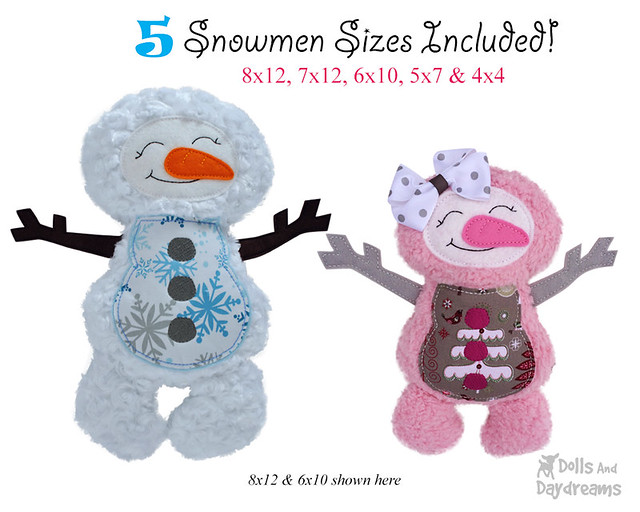 Snowman ITH Pattern
