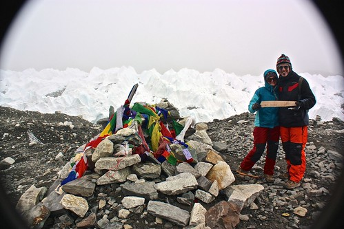 Lina and I at Everest Base Camp