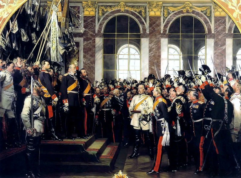 The proclamation of the German Empire by Anton von Werner