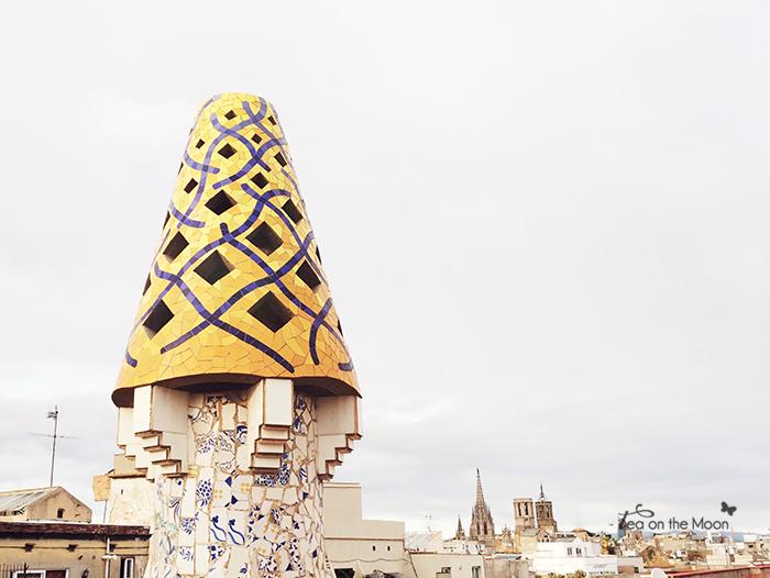 palau Güell Barcelona tejado gaudí 1