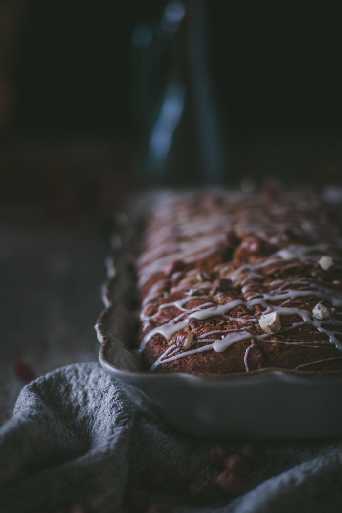 Pumpkin Sheet Cake with Maple Glaze and Toasted Hazelnuts + A Giveaway