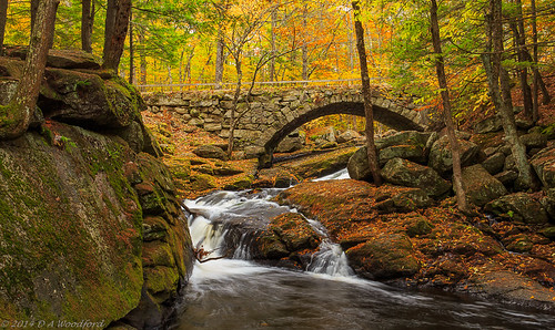longexposure bridge autumn usa waterfall newhampshire foliage gleason hillsboro hillsborough