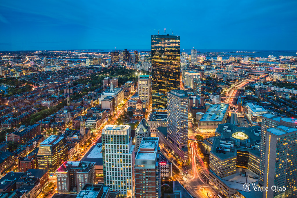 Boston Blue Hours from Prudential Skywalk