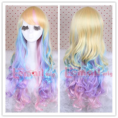70cm long mix color wave cosplay hair wig ML183-B