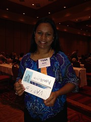 Jancy won a mini iPad at TANA!!