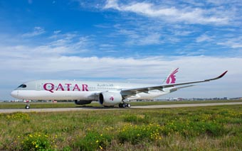 Qatar Airways A350-900 taxi (Qatar Airways)