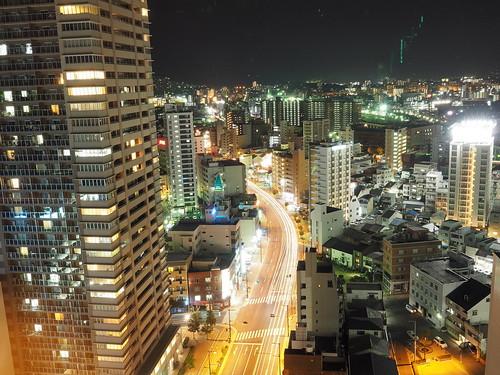 シェラトンホテル広島から望む夜景