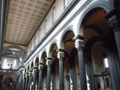 Se or del biombo brunelleschi las bas licas de san for Interior iglesia san lorenzo brunelleschi