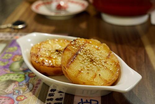 甜品是炭燒蘋果