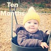 #ABeautifulMess #sweetclarajean Ten months old! Clara started dropping little words here and there this month. She can take 1-2 steps unassisted. And she likes to look at me cynically when I tell her to smile. #tenmonthsold