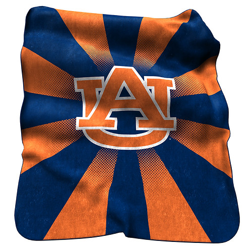 Auburn Tigers NCAA Raschel Blanket