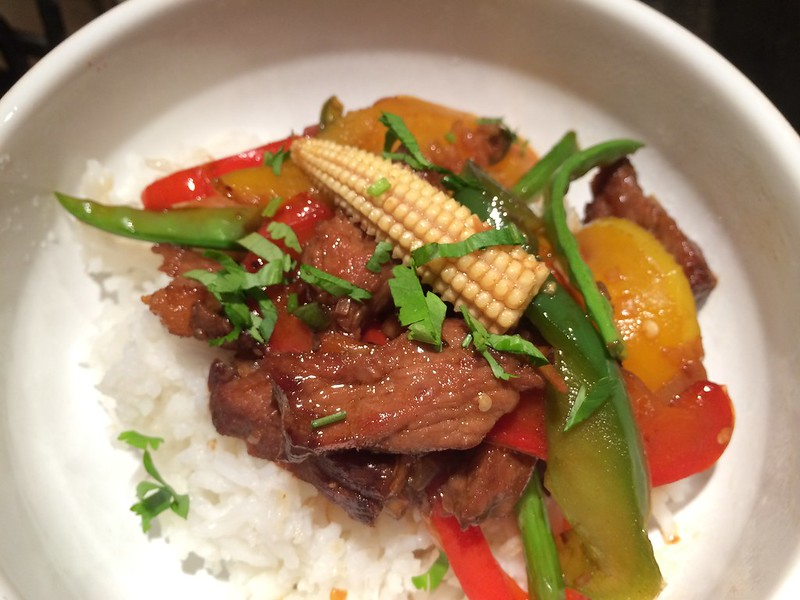 Sizzling Beef Teriyaki : Serve on Basmati Rice
